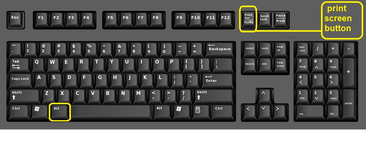 screenshot button on keyboard 2