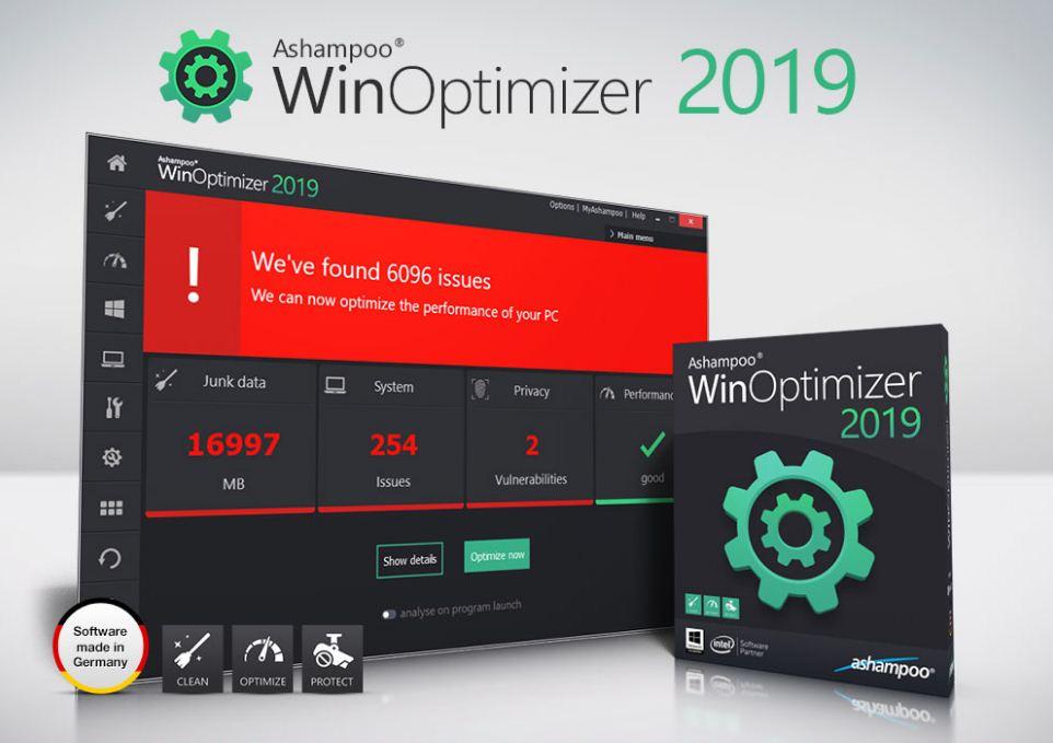 برنامج Ashampoo WinOptimizer 2019