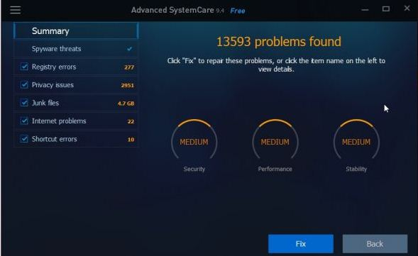 برنامج IObit Advanced SystemCare