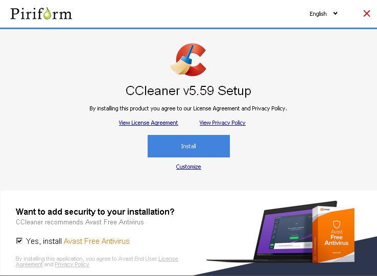تثبيتبرنامج ccleaner v5..59