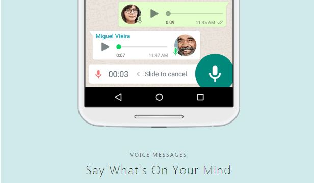 whatsapp voice messages